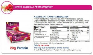 Quest Nutrition - Quest Bar 12pack White Chocolate Raspberry