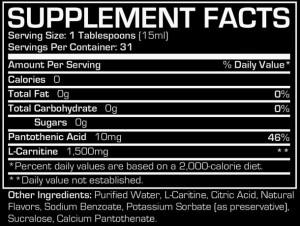 Prosupps L-Carnitine 1500 - Berry 160z