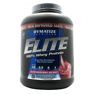 Dymatize Elite 100% Whey - 5lb Strawberry Blast