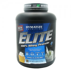 Dymatize Elite 100% Whey - 5lb Vanilla Cupcake