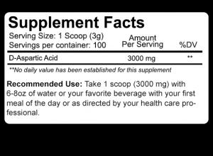 Nutrakey D-Asparic Acid - 300g 100sv
