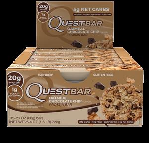 Quest Nutrition - Quest Bar 12pack Oatmeal Choc Chip