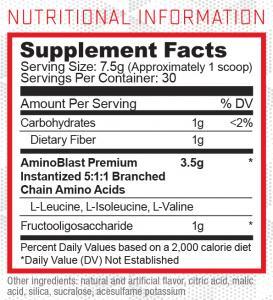 Everyday Amino Label ingredients