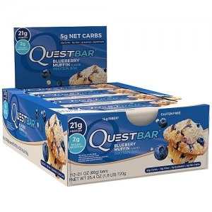 Quest Bar Blueberry Muffin - Box of 12 Free Fast Shipping