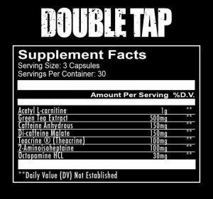 Double Tap Fat burner ingredients