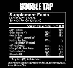 Double tap powder ingredients